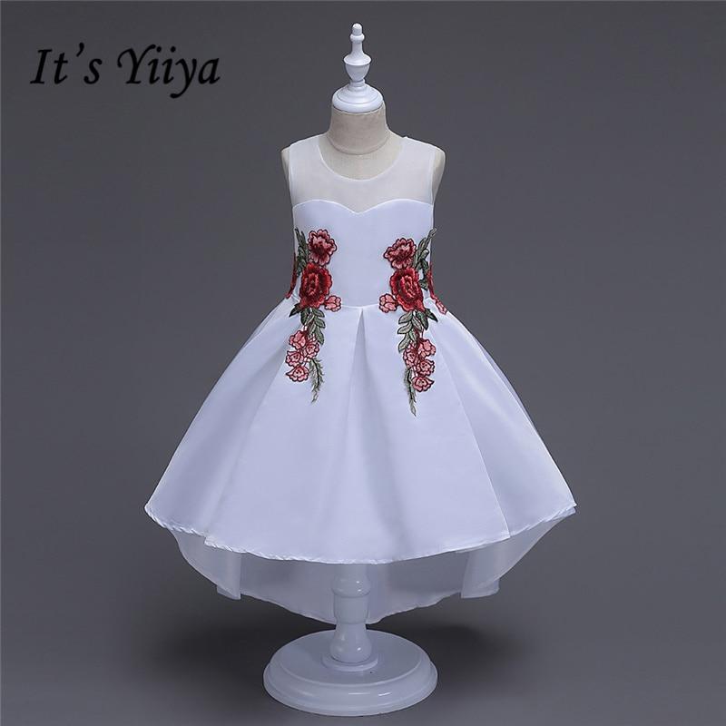 It's yiiya New Many Colors   Flower     Girl     Dresses   Embroidery Princess Ball Grown O-neck Sleeveless Tank   Girls     Dress   TS154