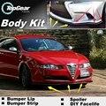 Deflector de Labios Lip Bumper Para Alfa Romeo GT AR 2003 ~ Onwork Frente alerón Falda Para TOPGEAR Amigos Tuning/Kit de Carrocería/tira