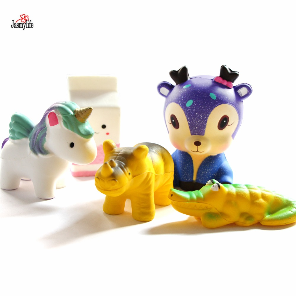 Ornament Scented-Toys Unicorn Collection Decompression Deer Milkbottle Doll-Cream Slow