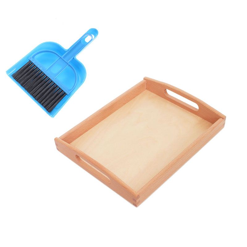 Delightful Colors And Exquisite Workmanship Novel Designs Impartial Montessori Material Daily Life Sweeping Training With Wooden Tray Preschool Educational Learning Toys For Children Mg3064h Famous For Selected Materials