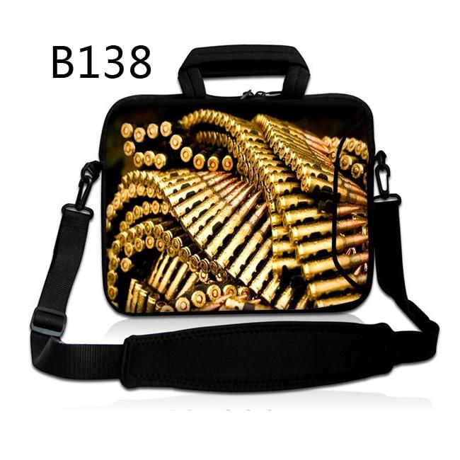 Bullets 13 14 15 17 Inch Computer Laptop Bag Soft Notebook Tablet Bags Case Messenger Shoulder Unisex Men Women Durable