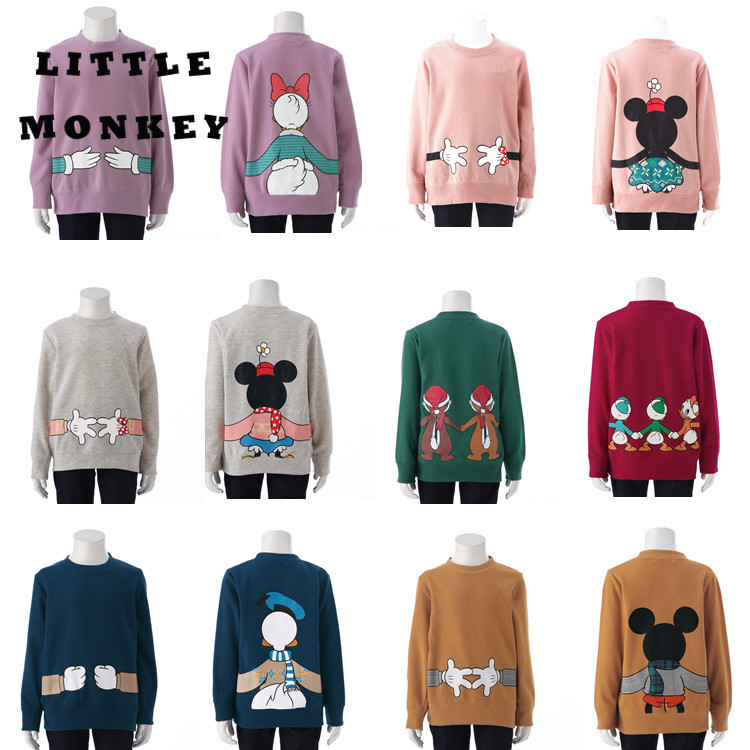 Dad or mum-Baby Autumn Clothes Household Matching Garments Cartoon Spherical Neck Youngsters's Sweater Mom And Daughter Mickey
