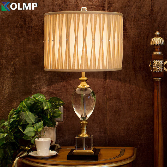 Europa luxe kristal verlichting lampen nachtkastje lamp klassieke ...