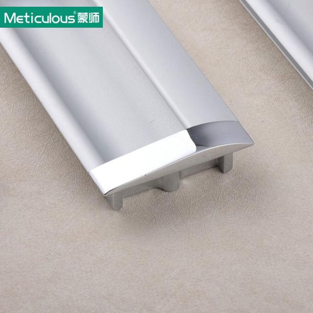 Meticulous Flush Cabinet Handles Furniture Hidden Recessed Door Pulls  Aluminum Concealed Drawer Handle Sliding Door Knobs 2pcs