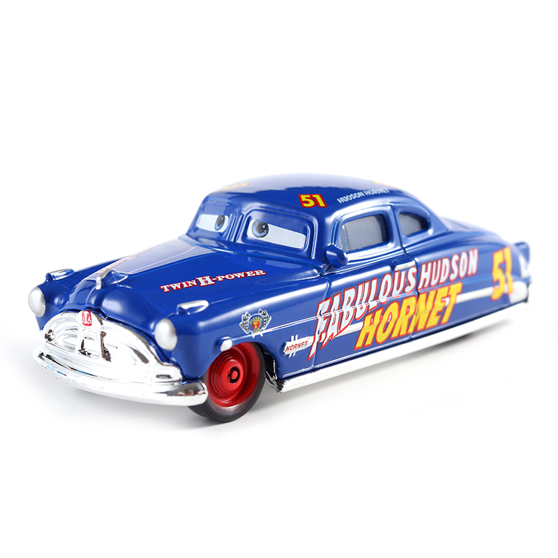 Cars Disney Pixar Cars Fabulous Hudson Hornet Metal Diecast Toy Car 1:55 Loose Brand New In Stock Disney Cars2 And Cars3 forces of valor fov diecast metal 82303 1 32 u s general purpose vehicle gp original boxed brand new in stock