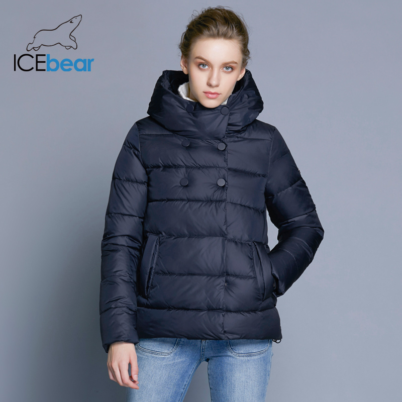 ICEbear 2018 Short Women   Parkas   Cotton Padded Jacket New Fashion Women's Windproof Thin Cotton Jacket Warm Jacket B16G6117D