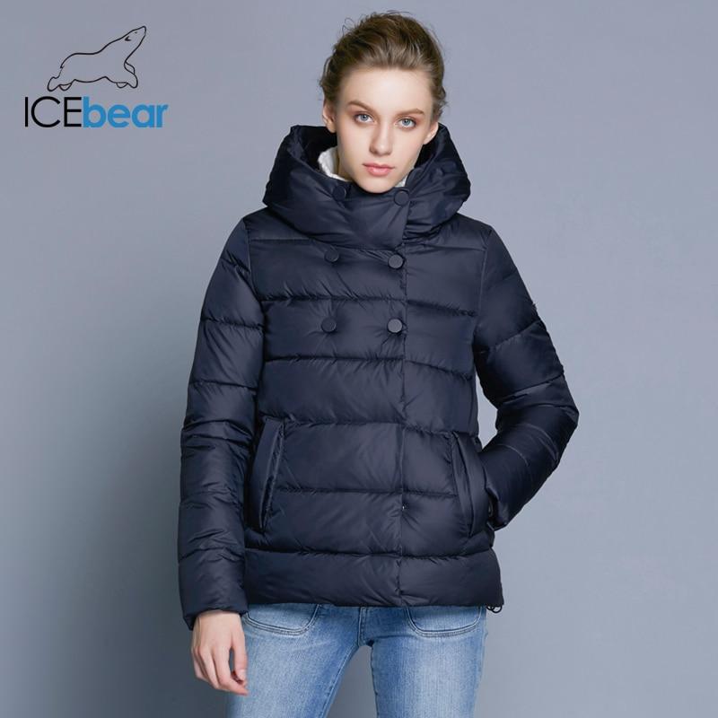 ICEbear 2018 Short Women   Parkas   Cotton Padded Jacket New Fashion Women's Windproof Thin Cotton Jacket Warm Jacket B16G6117D