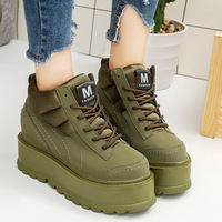 SWYIYV Woman Sneakers Platform Wedge Comfortable College Student Casual Shoes Pink Green Female Fashion Sneakres 2018 Hot Sale