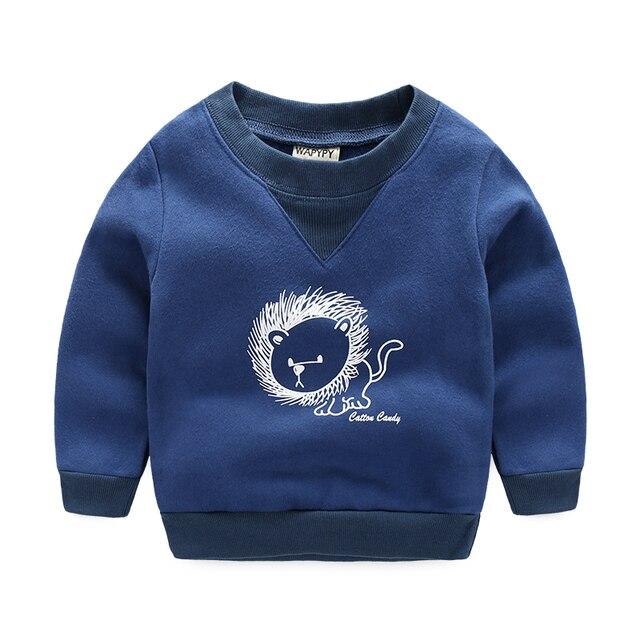 Дети футболка мальчиков мультфильм пуловеры толстовка флис внутри мальчиков случайные спортивные толстовки весна и осень
