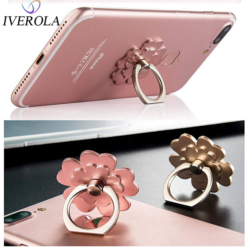 Univerola 360 Degree Adjustable Finger Ring Holder Smartphone Phone Stand Mobile Phone Holder Stand For IPhone For Xiaomi Huawei