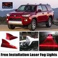 Instalação gratuita Para Toyota RAV4/Vanguarda/4 Runner/Hilux Surf/Laser de Barbatana de Tubarão Energia Solar Luzes de Nevoeiro/Aviso lâmpada