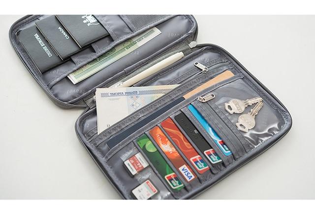 Hot travel wallet family passport