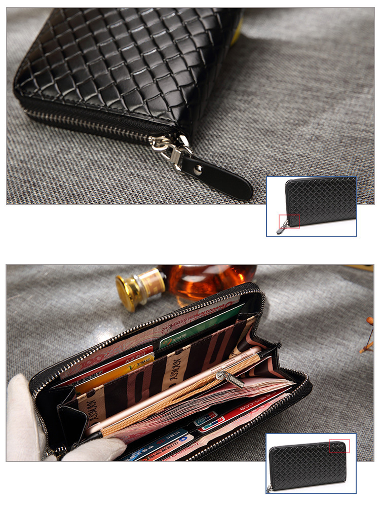 Topdudes.com - Business Casual Vintage Long Zipper Wallets With Coin Pocket