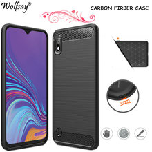 Carbon Fiber Cover For Samsung Galaxy A10 A10S A40 A30 A50 S A70 A20E A21 A41 A01 A51 A71 S20Ultra 5G Case For Samsung A51 Case(China)