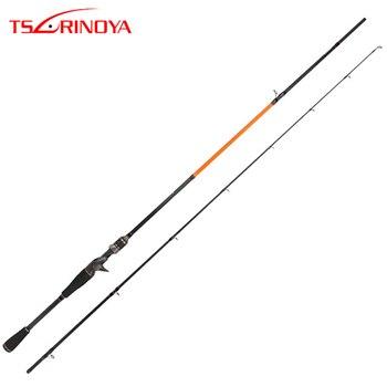TSURINOYA 2.1m ML M Power 2 Section Spinning/Casting Fishing Rod Carbon Lure Rods Vara De Pesca Canne Peche Fishing Tackle Carp