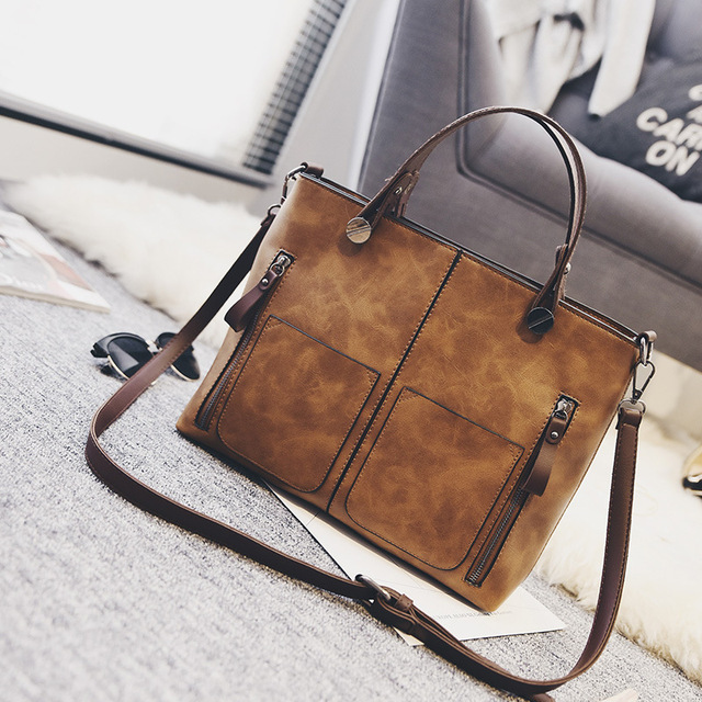 f6978bac95 Leather Bags Handbags Women Famous Brands Big Casual Women Bags Trunk Tote  Spanish Brand Shoulder Bag Ladies large Bolsos Mujer