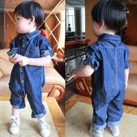 2018 Spring Soft Denim Baby Romper Infant Clothes Newborn Jumpsuit Babies Boy Girls Costume Cowboy Fashion