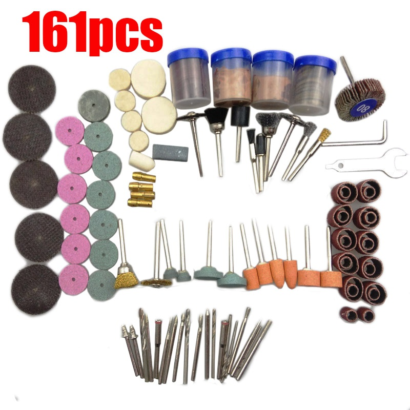 161Pcs Bit Set High Quanlity Mini Drill Rotary Tool Fit Dremel Grinding Accessories Bit Set Suit