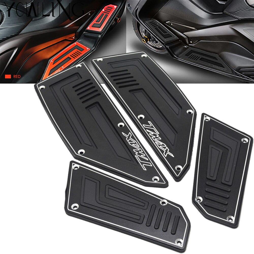 Painéis T-MAX 530 Frente Footboard Footrest Footpeg Pé Para Yamaha TMAX 530 2012-2016 2012 2013 2014 2015 2016 PISO COBRE