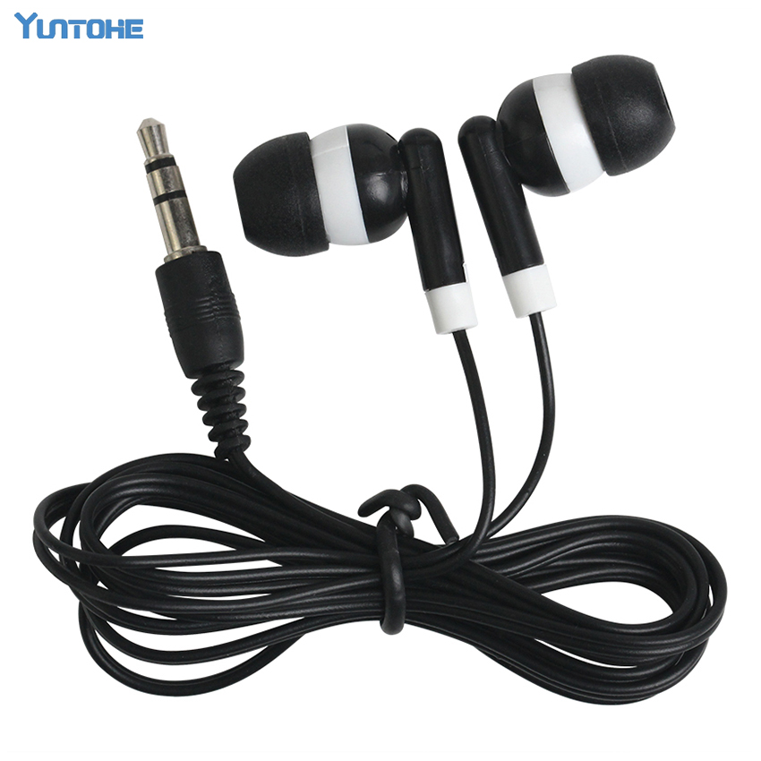 Wholesale 100pcs Disposable Earphones low cost for Theatre Corporation Museum School library hotel hospital Gift