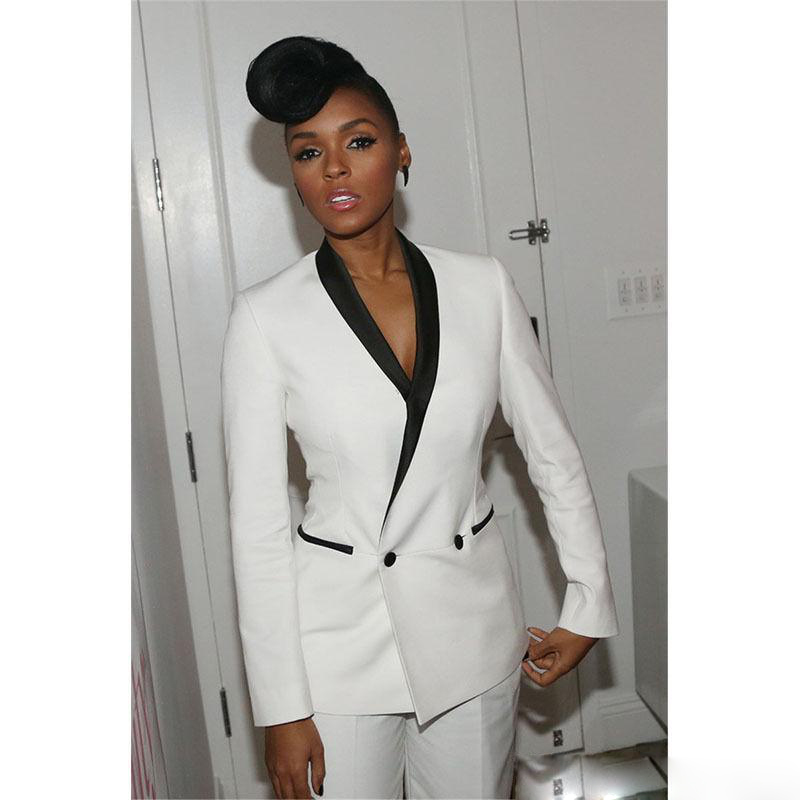 Fashion Women Suit Single Breasted Slim Pant Suits Notched Blazer Jacket And Pencil Pant Lady 2 Piece Set