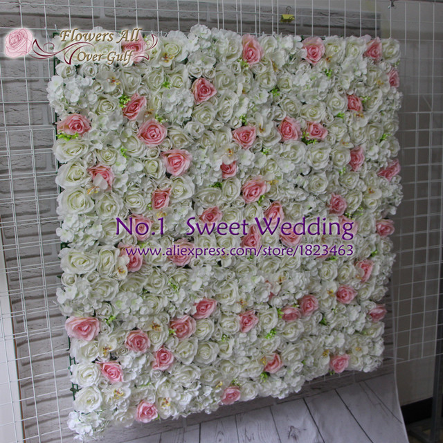 Aliexpress buy flowers all over gulf artificial white light flowers all over gulf artificial white light pink rose and orchid flower wall for wedding backdrop mightylinksfo