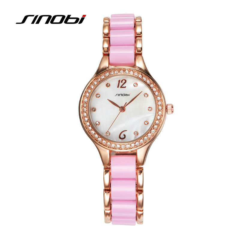 SINOBI Fashion font b Women s b font Bracelet font b Watches b font For Elegant