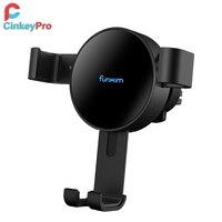 CinkeyPro QI Wireless Cargador de Coche, de Reacción de La Gravedad 360 Rotación Soporte para iPhone 8 X Samsung S7 S8 Air Vent Soporte de Carga Rápida