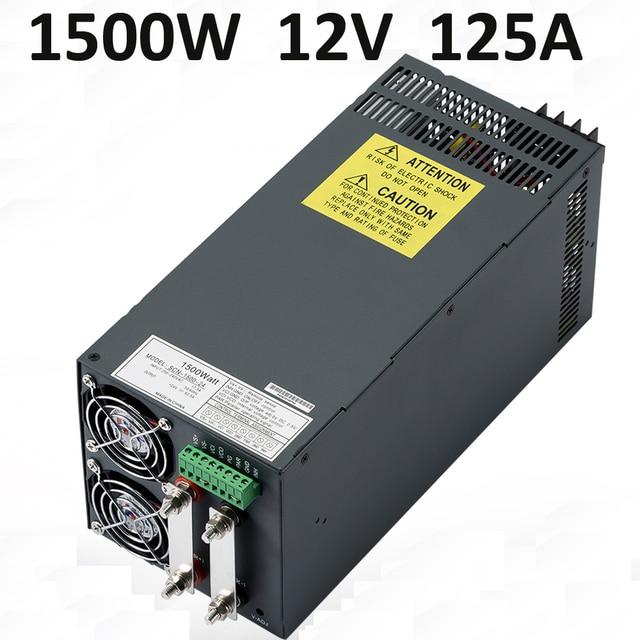 2 pcs 1500W SMPS PSU 12V DC led power supply 1500W 12V 125A ...