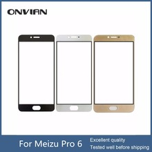 Touch Screen for Meizu Pro 6 /MX6 Pro 5.2inch Front Outer Glass Top Lens Touchscreen Panel Replacement Black White 10pcs/lot