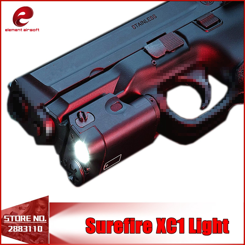 Element Airsoft Tactical SF XC1 MINI Gun LED Pistol Weapon Light Flashlight Glock Ultra Compact Handgun M92 Lights Hunting EX414 ex367 element sf x400u ultra led tactical light 20mm picatinny weaver rail weapon light with red laser for pistol or hunting