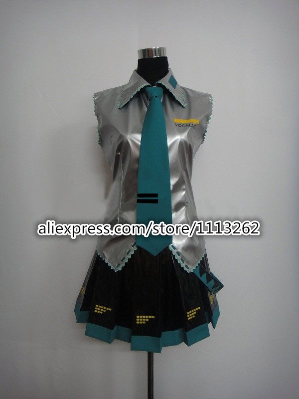 Super Alloy Hatsune Miku Vocaloid Cosplay Costumes Dress Girl s Cloth any size