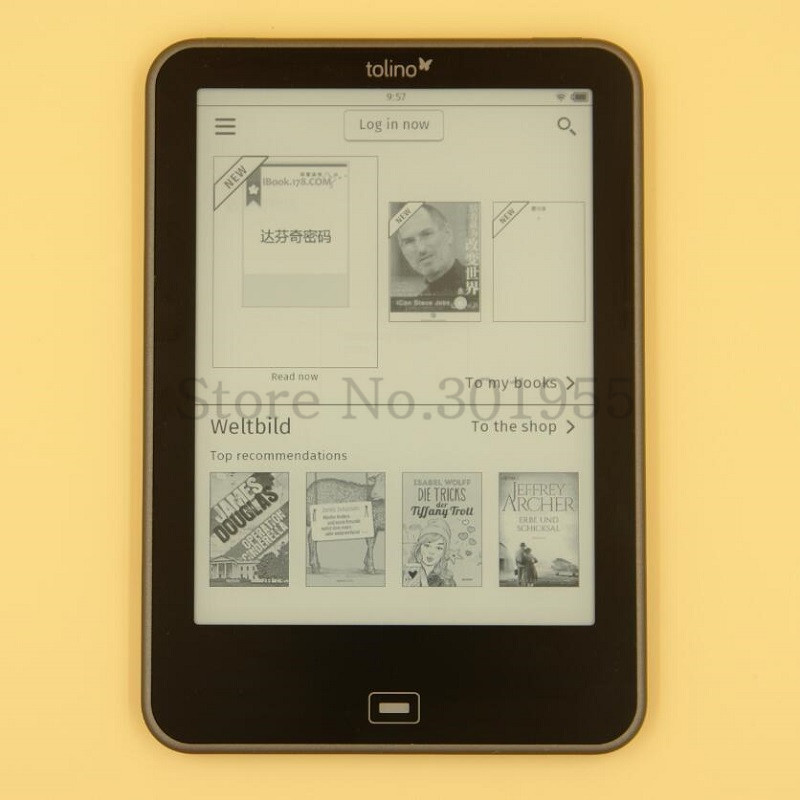PDF E-book 6 inch Light Tolino Vision 1 1024×758 E ink carta Touch Screen 4GB WIFI eBook Reader