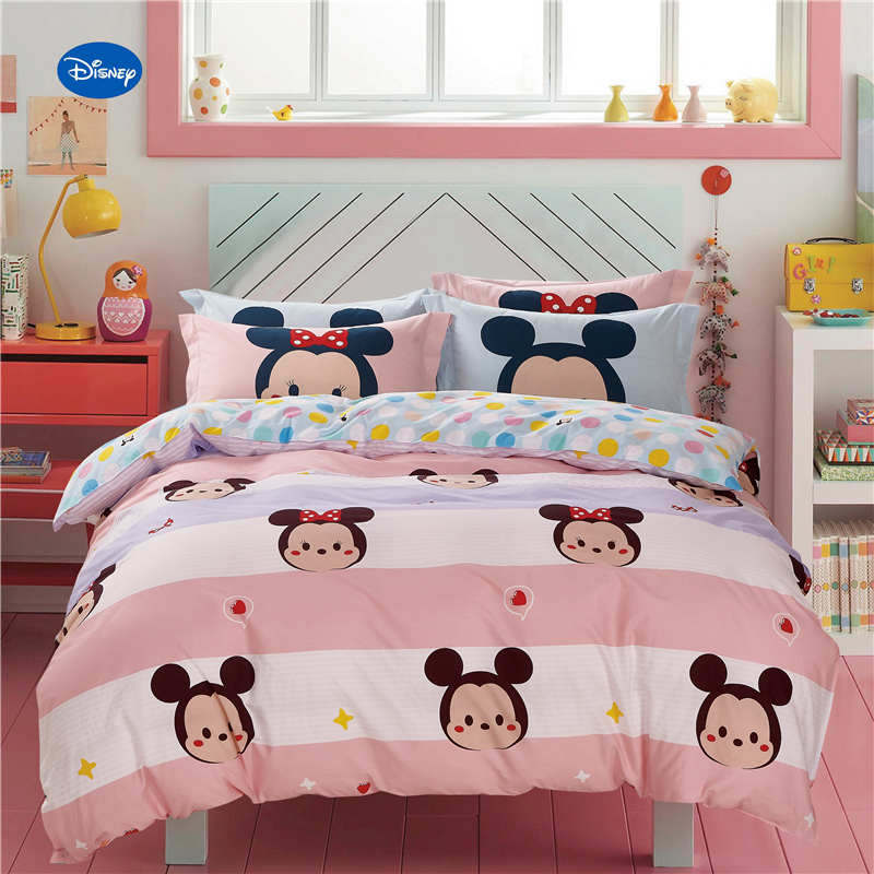 Minnie Mouse Polka Dot Printed Comforter Bedding Set Girl ...