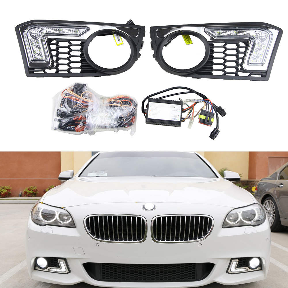 New For BMW F10 led drl Light 6-leds cree chips 12V 6W waterproof Flexible car led daytime running light for BMW 5 series