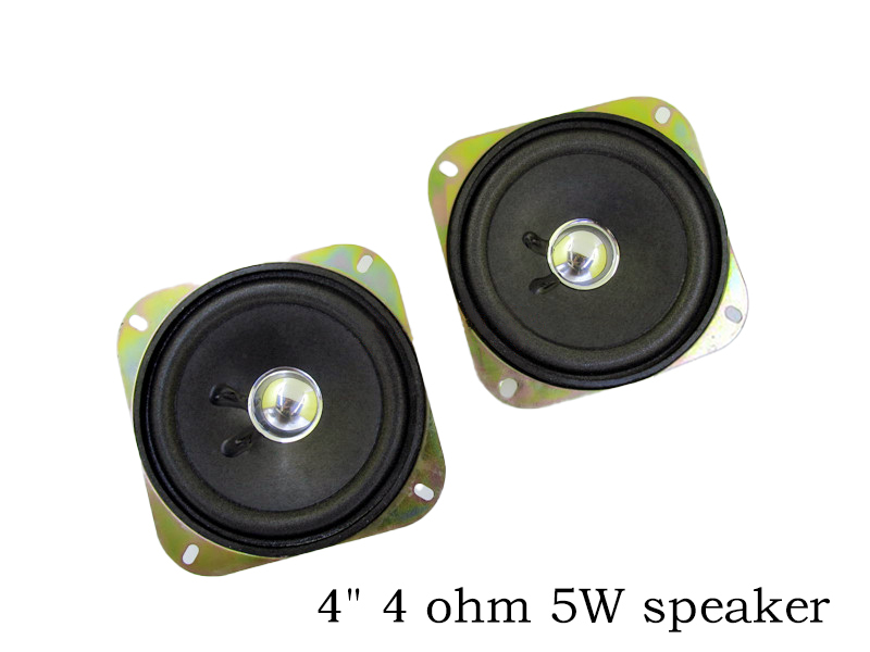 4inch 8Ohm 5w DIY speaker for Parking system 102mm 2pcs/lot