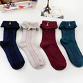 Girls Socks Ankle High With Tower Princess Socks Women Cute Socks Long Tube Booties Vertical Striped Socks