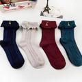 Girls Socks Ankle High With Tower Princess Socks Women Cute Socks Long Tube Booties Vertical Striped Socks