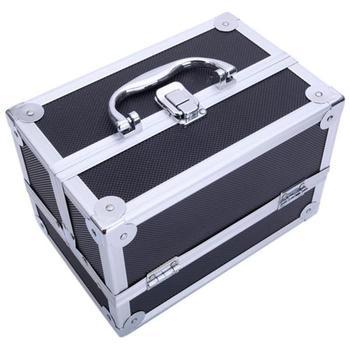 Запираемый чехол для макияжа, коробка для ювелирных изделий, косметический Органайзер, коробка с зеркалом, переносная коробка для хранения ...