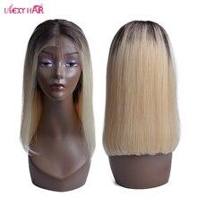 USEXY HAIR 1B 613 Парик Шнурка Для Чернокожих Женщин Ombre Блондинка Парики Фронта Шнурка