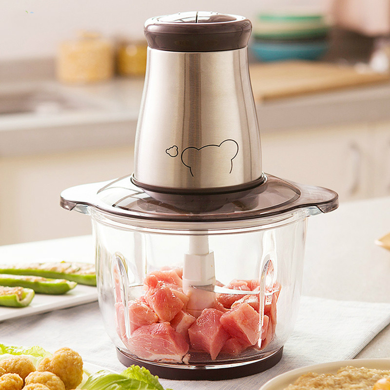 Meat Grinders are made with electric stainless steel and mixed minced Meat, chilli garlic.