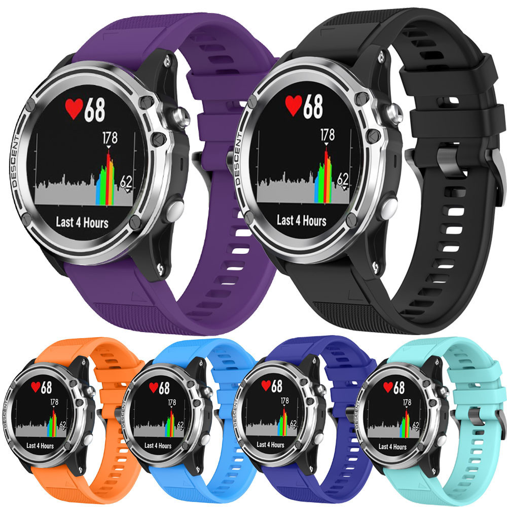 Watch band Replacement Silicagel Soft Quick Release Kit Band Strap For Garmin Descent Mk1 GPS Watch M.20 20mm width replacement outdoor sport strap for garmin fenix 5s band with quick release soft silicone wristband for garmin band