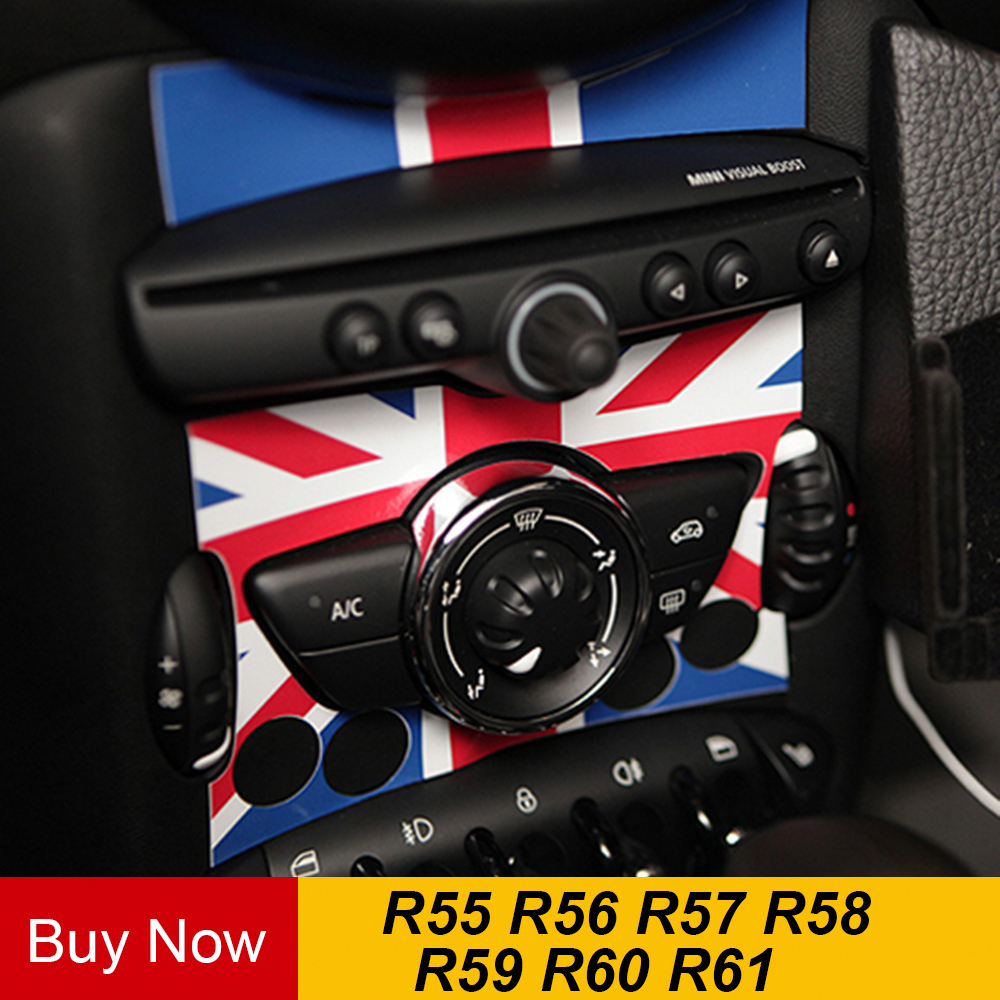 PVC Car Internal Auto Control Panel Adhesive Sticker Decals Decor For MINI COOPER JCW R55 R56 R57 R58 R59 R60 R61 Countryman
