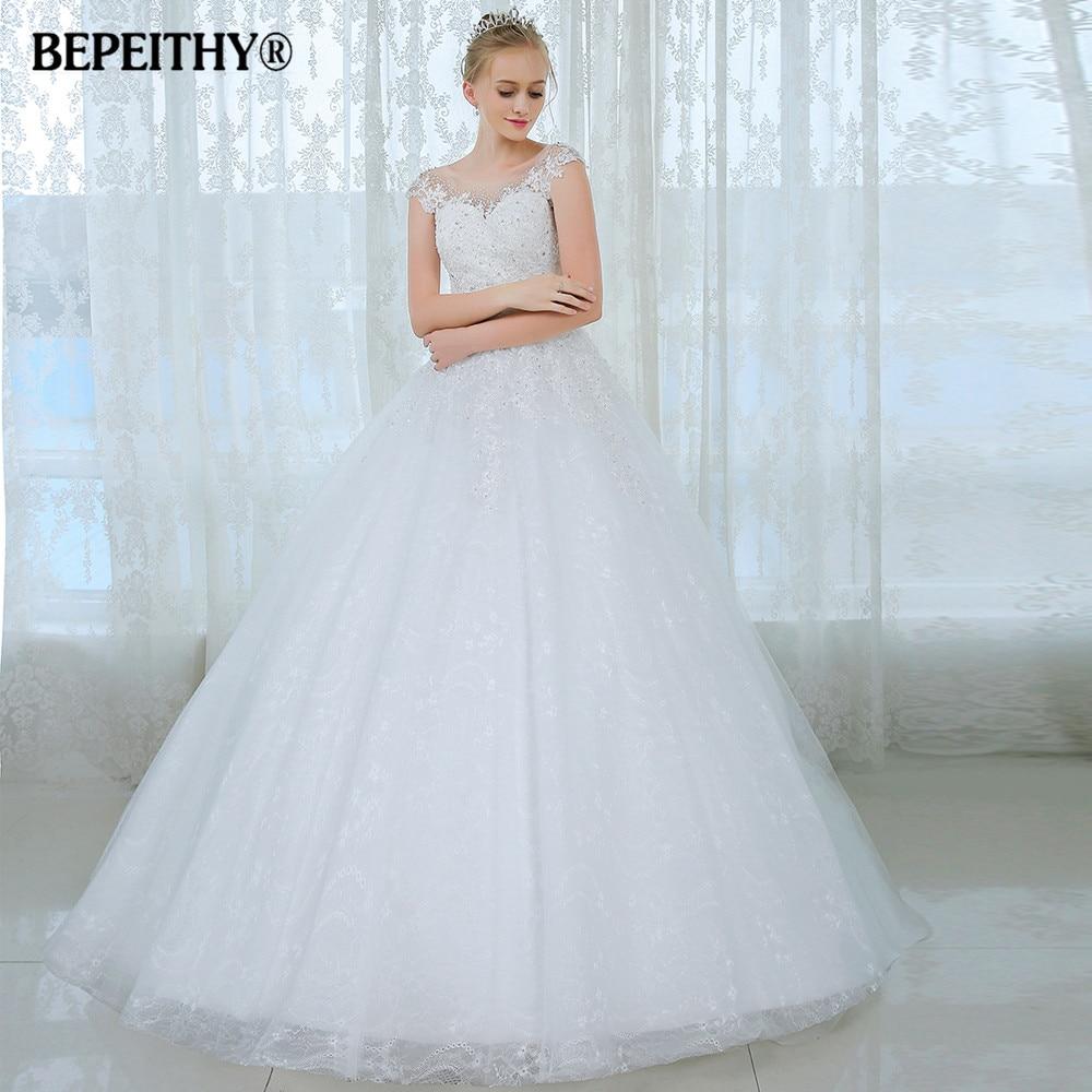 Vestidos De Novia Ball Gown Short Sleeves Wedding Dress Casamento ...