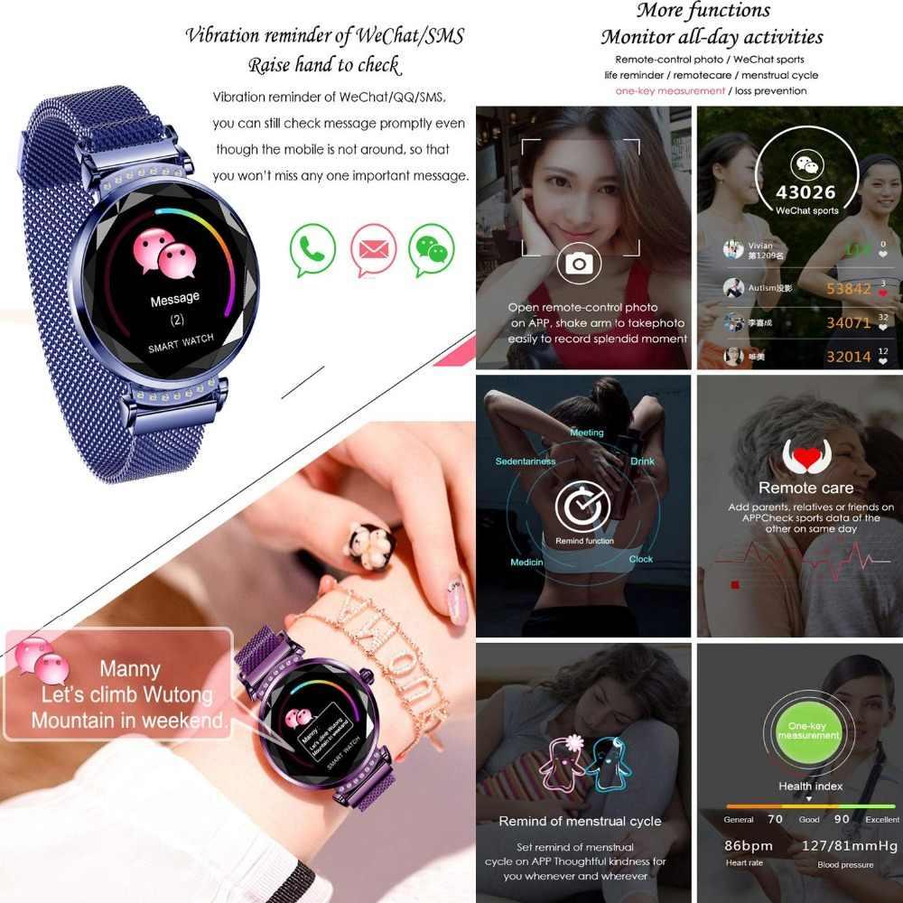Smart Watch untuk Wanita Kencool Kebugaran Tracker Smartwatch Jam Tekanan Darah Tidur Monitor IP67 Tahan Air Aktivitas Tracker Band