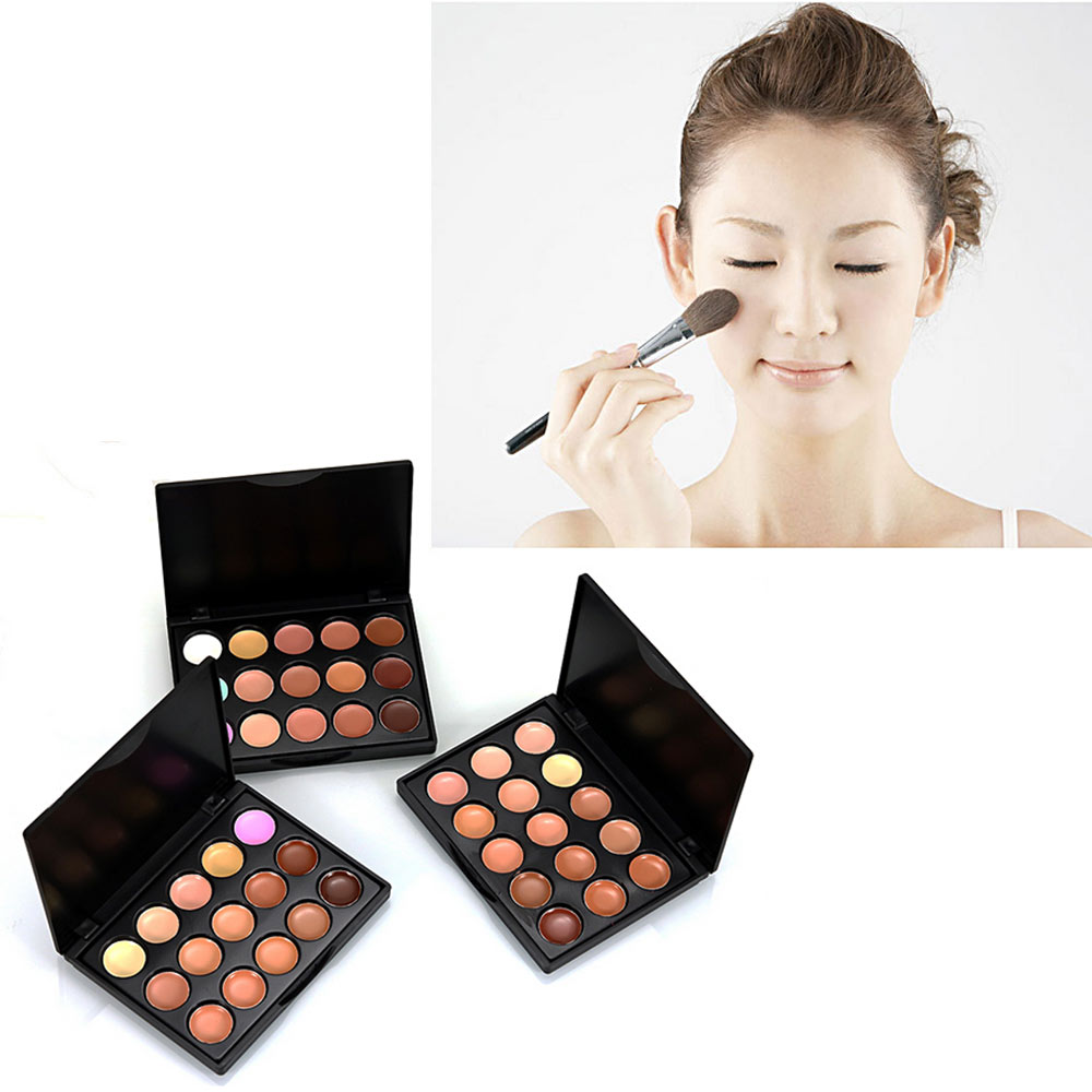 15 Colors Pro Concealer Palette Concealer Facia LCream Care Camouflage Makeup Base Palettes Cosmetic Set Kit