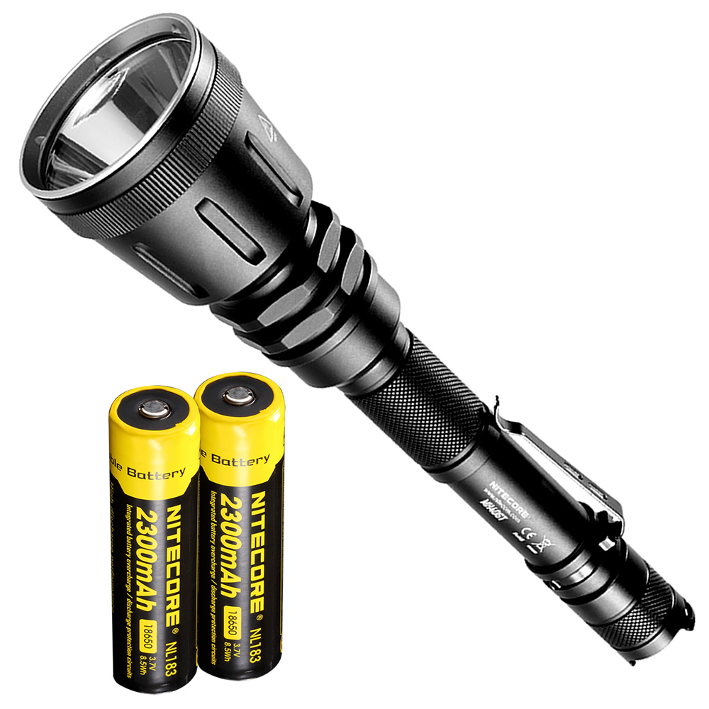 NITECORE MH40GT LED Flashlight CREE XP-L HI V3 LED 1000 Lumens Hunt Searching Tactical Flashlight with 2x18650 Batteries+Charger ip68 waterproof headlamp hr20 cree xp l hi led 1000 lumens headlight with built in usb charger by1x18650 2xcr123a battery