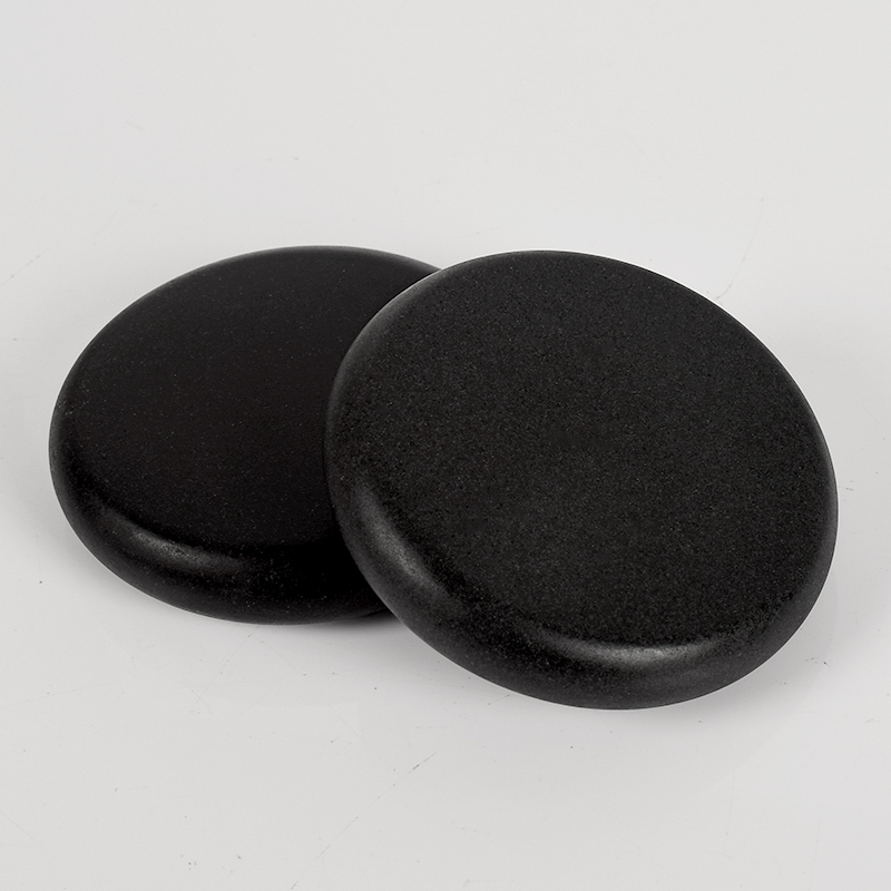 2pcs Massage Stones 80*80*16mm Natural Energy Stone Set Hot SPA Rocks Basalt Stone Therapy Stone Pain Relief Health Care Tool