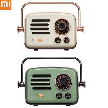 NEW Xiaomi Mijia Elvis Travel Bluetooth Portable Speaker Mini Radio Retro Tweeter Log Audio Mini Office Player Smart Home Туалет