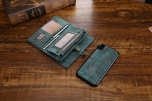 Zipper Wallet Case Luxury Leather Multifunctional Business Wallet Detachable Magnetic Back Cover Leather Case For oneplus 7 PRO